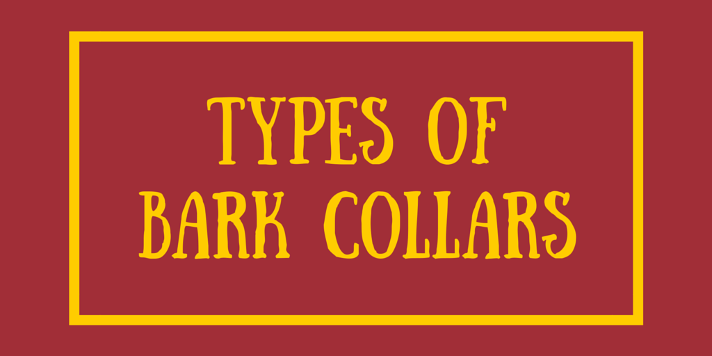 Types of Bark Collars